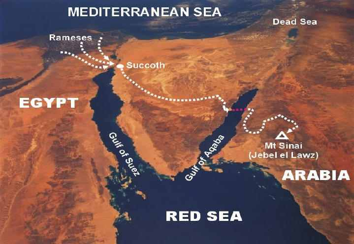 True Map of the Exodus from Egypt