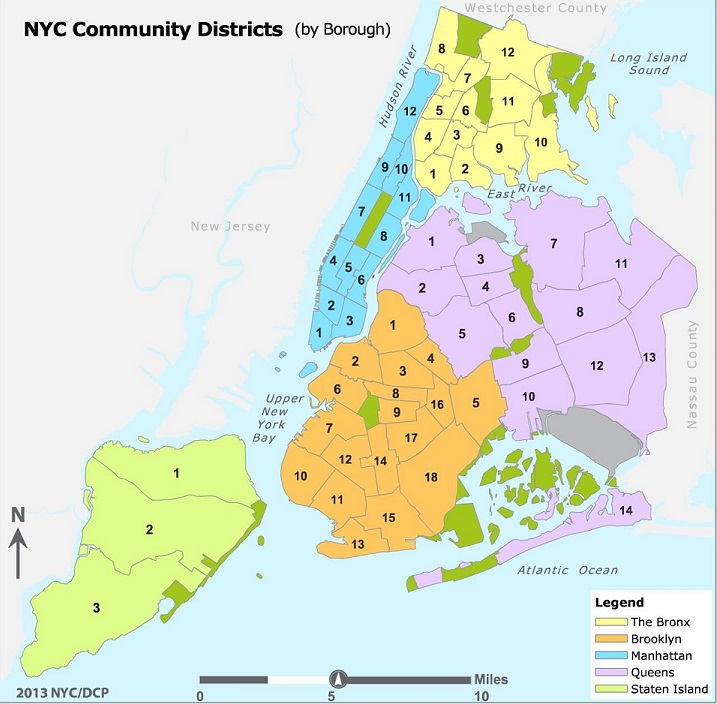 NYC Community District Map