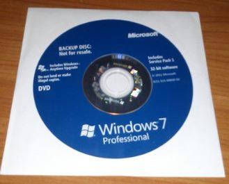 Cover -Win Pro 7: 32-bit & 64-bit BACKUP Disk Set